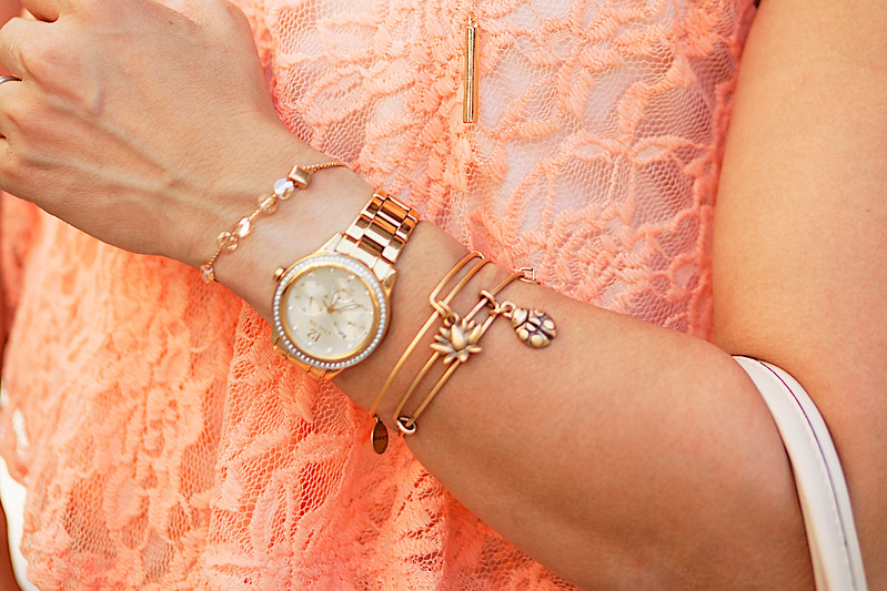cute & little blog | petite fashion | alex and ani bracelet stack review