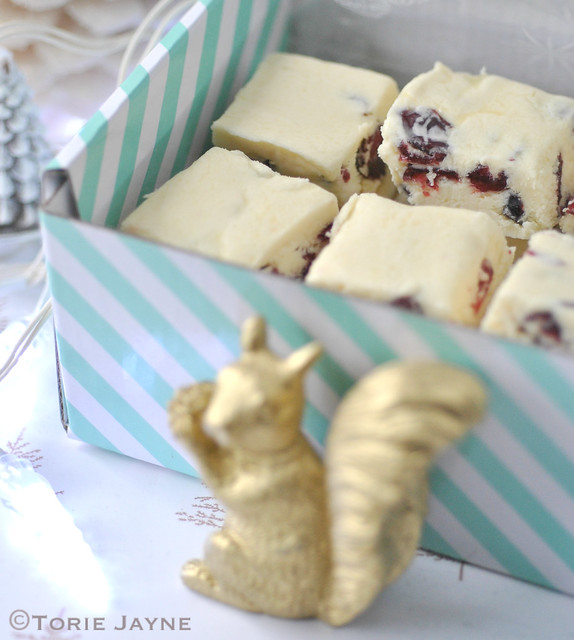 White chocolate & cranberry fudge 4