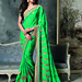Green Color Embroidery Dazzling Bordered Saree Sarees on Shimply.com