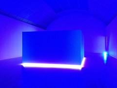 San Jose Museum of Art: Blue room, Science Fiction installation, 2nd floor f