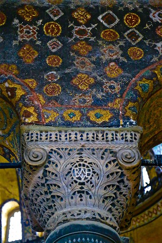 The columns were all mosaic