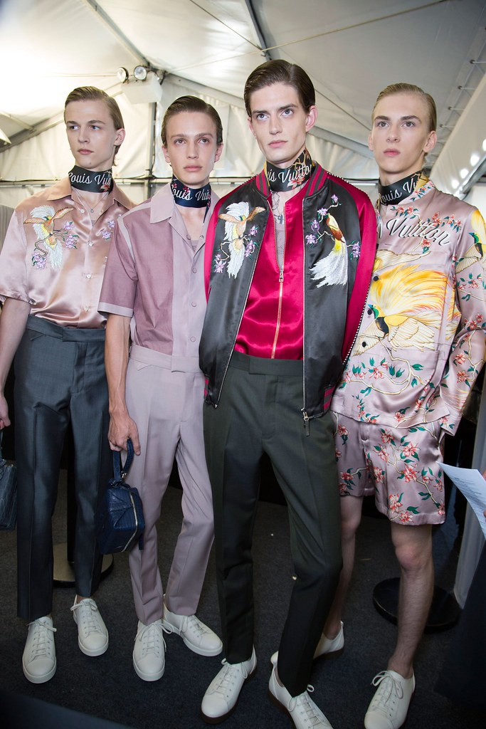 Dominik Sadoch3380_SS16 Paris Louis Vuitton_Max Barczak, Lucas Satherley, Gabriel Hengeveld(fashionising.com)