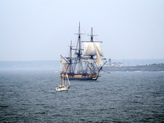 L'Hermione and L'Abalone