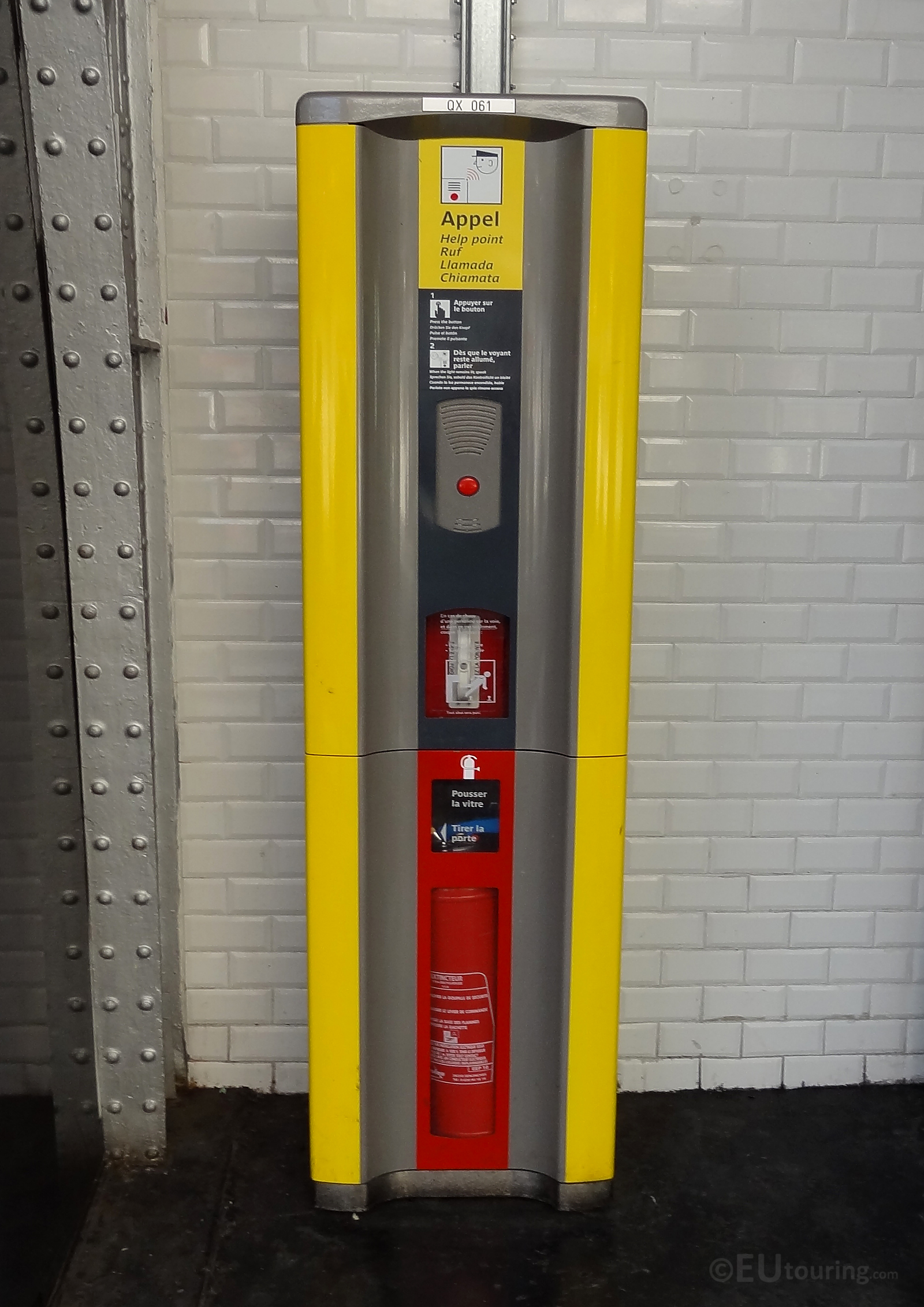 Emergency point within a metro station