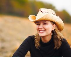 portrait photography, clothing, photo shoot, hat, close-up, cowboy hat, beauty, portrait, smile, headgear,