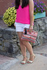 pink tank, white shorts, aztec sequin clutch-2.jpg by LyddieGal