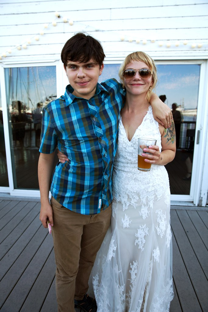 Parker with the bride
