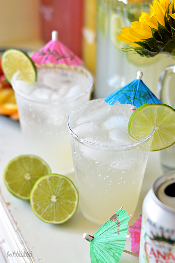 DIY Sparkling Cocktail Bar - Sparkling Margaritas // bethcakes.com