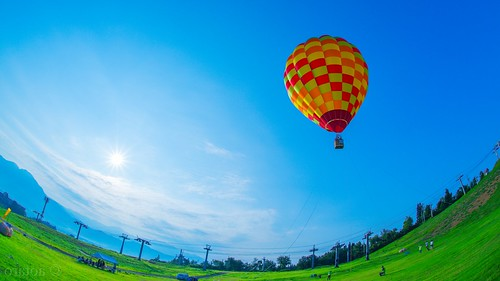 morning japan sunrise fisheye hotairballoon niigata sigma15mmf28exdgfisheye 上越国際スキー場 minamiuonuma ilce7m2 joetsukokusaiskiresort