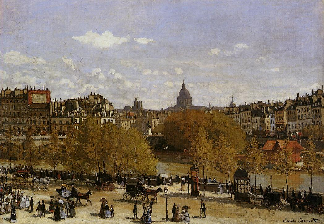 Quai du Louvre by Claude Monet,1867