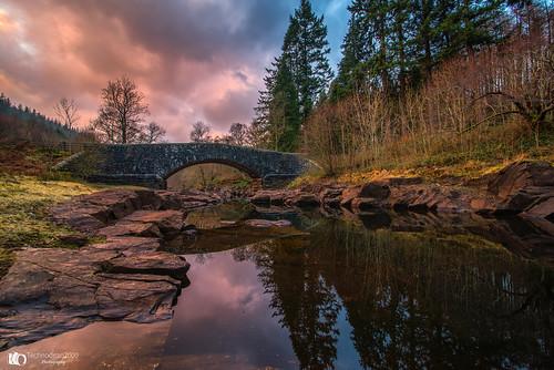 elan valley bridge crossing river mid wales uk colour sky nikon d610 lightroom
