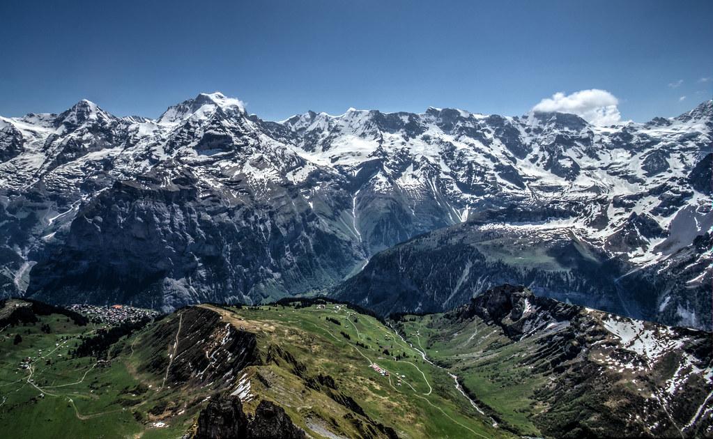 Swiss Alps from Piz Gloria