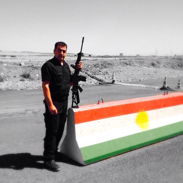One life, one Kurdistan. we defend our country. ISIS Terrorist  don't have a place in Kurdistan. we take care of our democracy and our population.