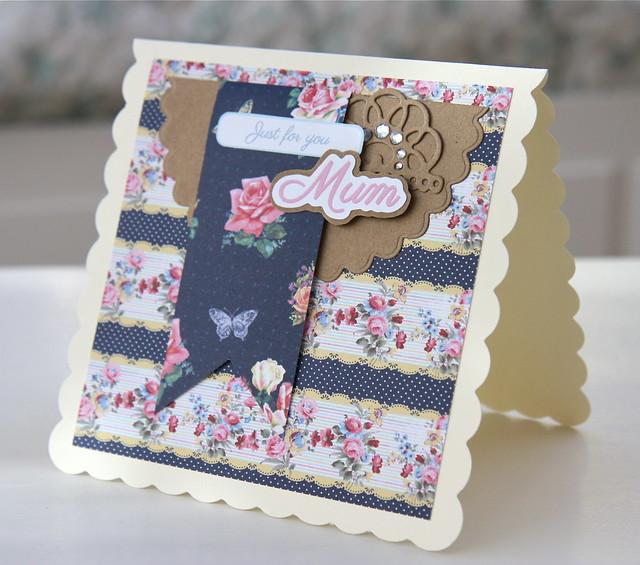 Simply Floral mum card by StickerKitten