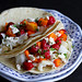 Fish Tacos with Tart Cherry and Mango Salsa...232 calories and 3 Weight Watchers PP | cookincanuck.com #recipe #healthy