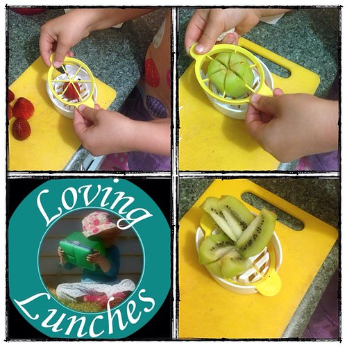 Loving some help in the kitchen tonight to make the fruit salad Miss M asked for in her lunchbox … and our 3-way egg slicer got a #repurpose too! #funfood #funwithfood #kidsinthekitchen