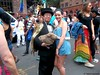 Dr. Takeshi Yamada and Seara (sea rabbit) visited the Gay Pride Parade in Manhattan, New York on June 28, 2015. The US President Barack Obama supports same-sex marriage. gay marriage. 100_8387=015C by searabbits23