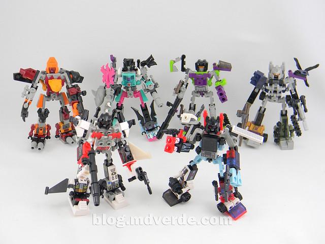 Transformers Defensor Kre-O - modo combinado vs otros Kre-O combiners