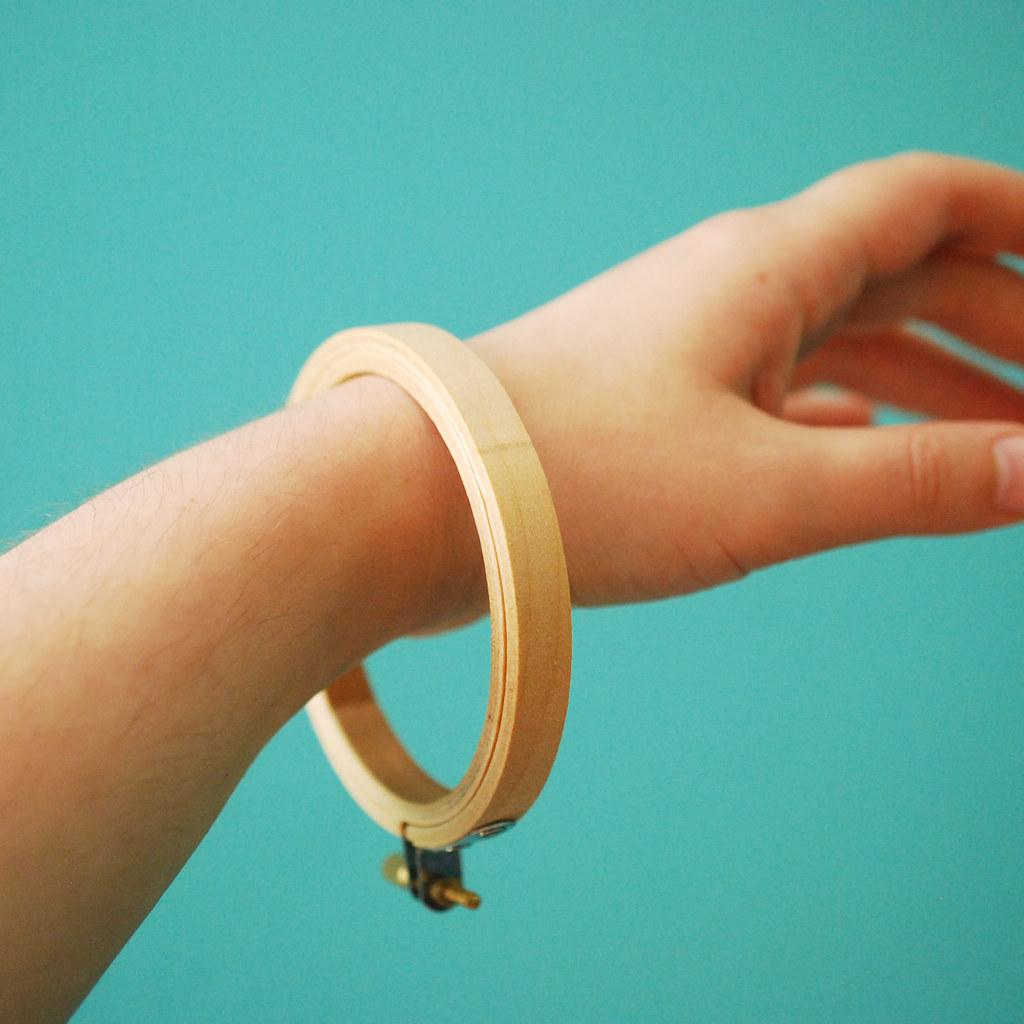 Embroidery Hoop Bracelet