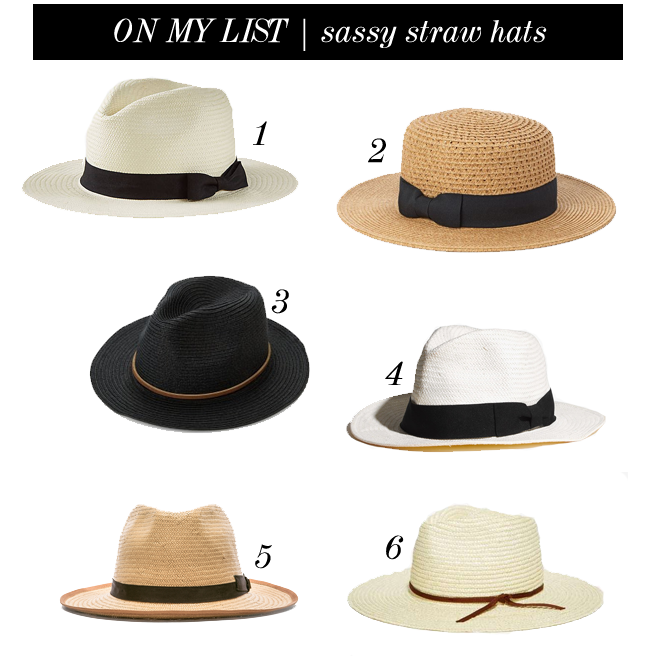 on my list straw hats