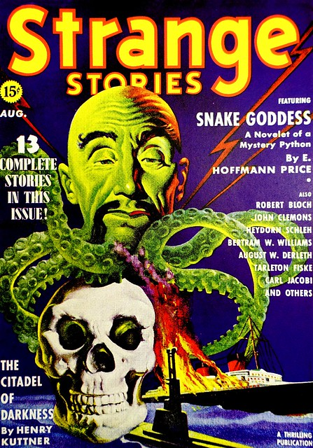 Strange Stories Vol. 1, No. 5 (August, 1939). Cover Art by Earle Bergey