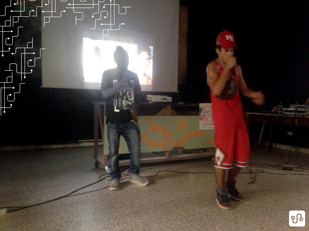 Eyespy e CloD durante a apresentação