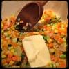 #Homemade #ZucchiniBlossom #Risotto #CucinaDelloZio - add butter