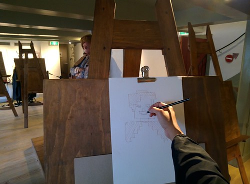 Life drawing in the studio at Rembrandthuis #throughglass