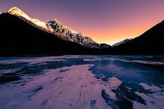 Lago di Anterselva all'alba
