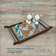 "[CIRCA] - ""Slumber Party"" - Holiday Treat Tray - Festive Aqua"
