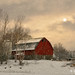 Snow Day Barn # 152 by Mike Linnihan