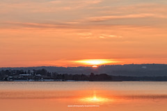 Solnedgang over Knudsø, Ry 2017