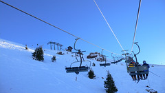 ski equipment, winter sport, mountain, winter, ski, skiing, piste, snow, cable car,