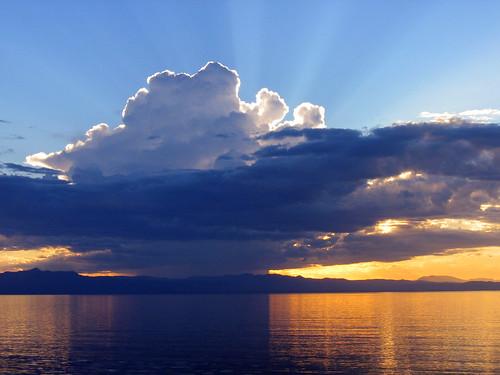 Sunrays Over Lake Malawi