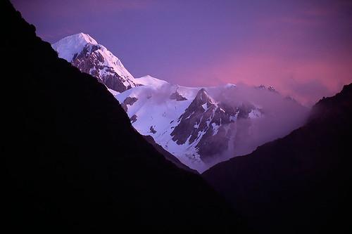 sunset newzealand mountain landscape foxglacier southisland southernalps alpenglow mounttasman
