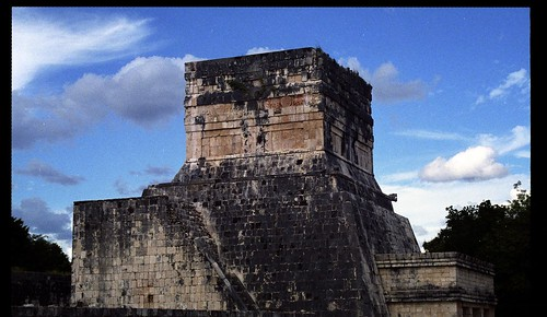 Uxmal - Dovecotes from the Great Pyramid - 1985