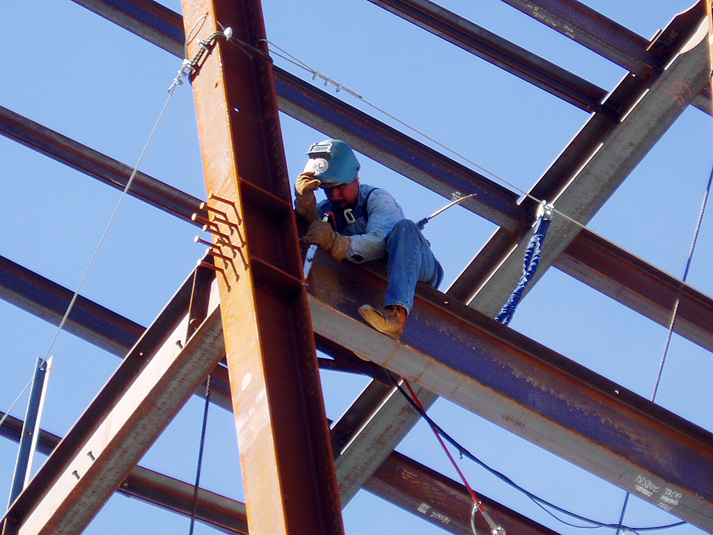 welder on high steel san francisco california a photo on welder on high steel san francisco california