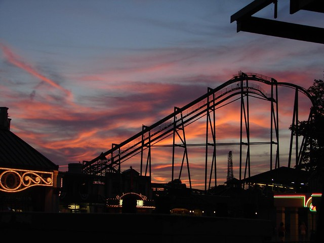 Sunset at Cedar Point