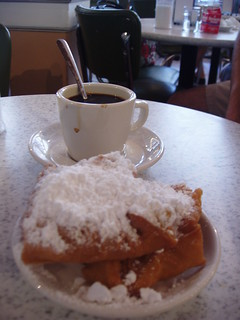 beignet and coffee