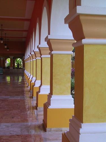 Reflected pillars