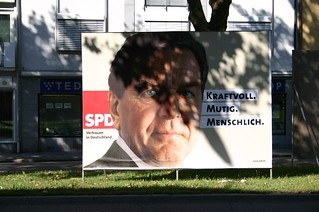 Gerhard Schröder in the shadows