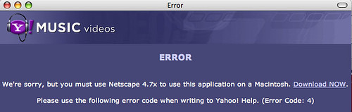 Yahoo music video idiocy for Macs