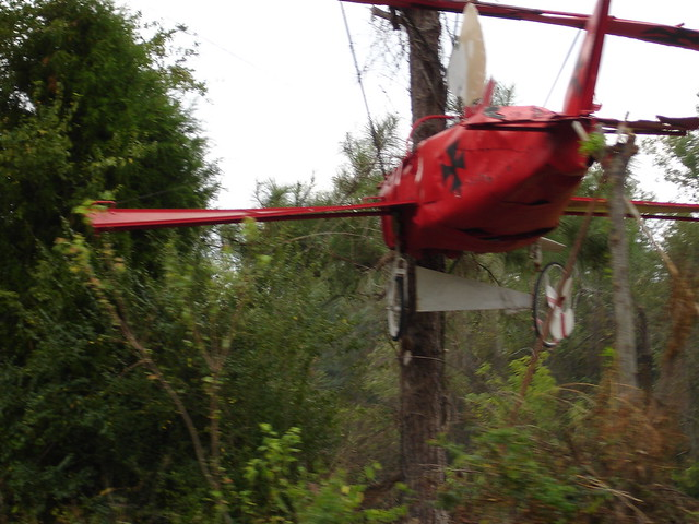 Snoopy in Red Baron Plane at Jim Bird's Hay Creations, Forkland AL