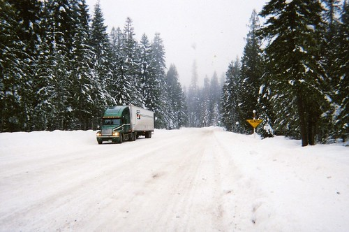 Winter Drive in Idaho