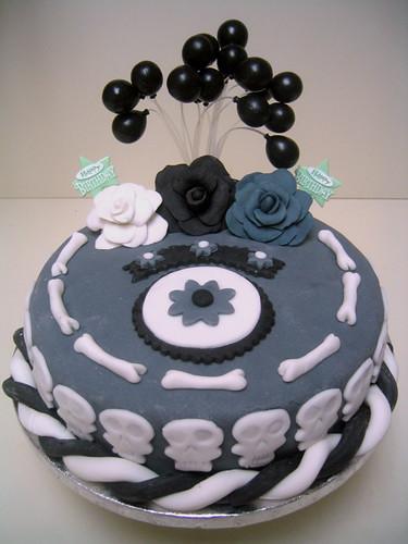 Skull & Bones Cake Inspired by Tim Burton's Corpse Bride