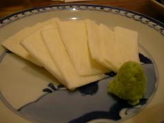 Mushroom Sashimi / マコモダケの刺身
