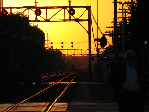 Downers Grove Station at Sunset