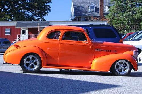 Orange Muscle Car