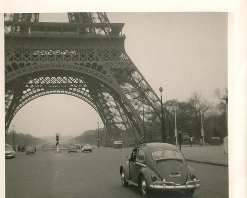 Driving under the Eiffel tower, 1963