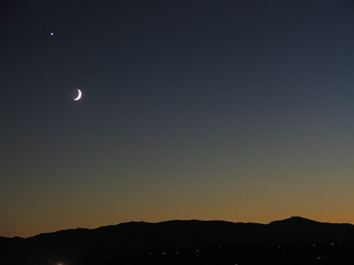 Sunset Moon Venus